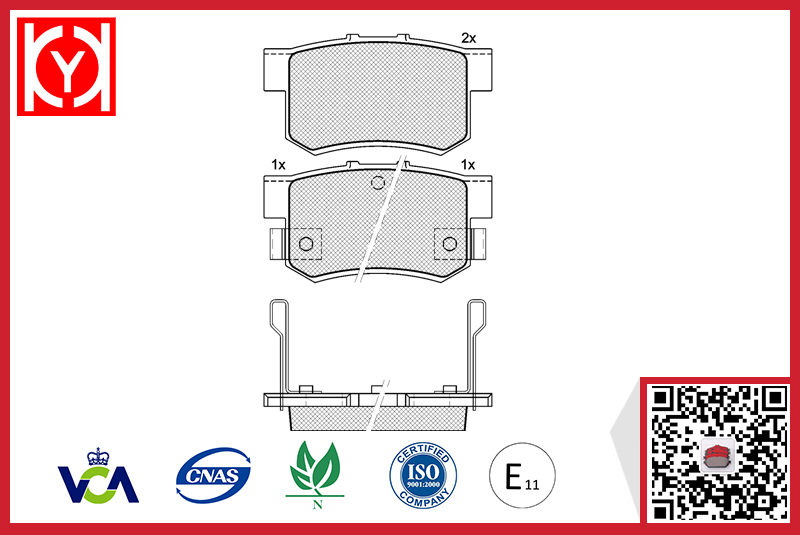 Brake pad set KY80798 Brand OE Reference-43022-SG0-G01