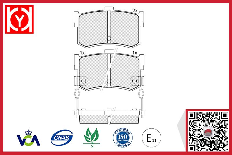 Brake pad set KY80677 BrandOE Reference 58302-34A00