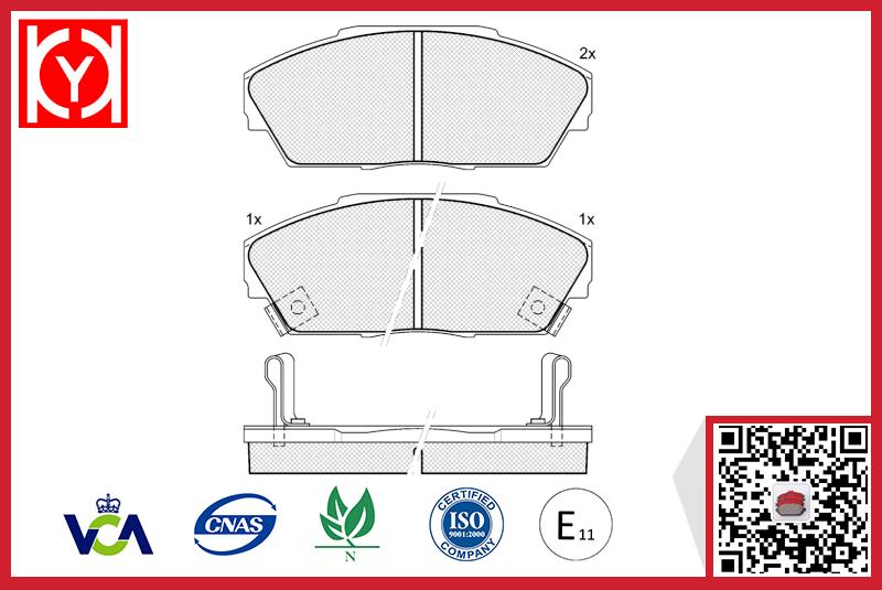 Brake pad set KY80704 OE 45022-SD4-31446