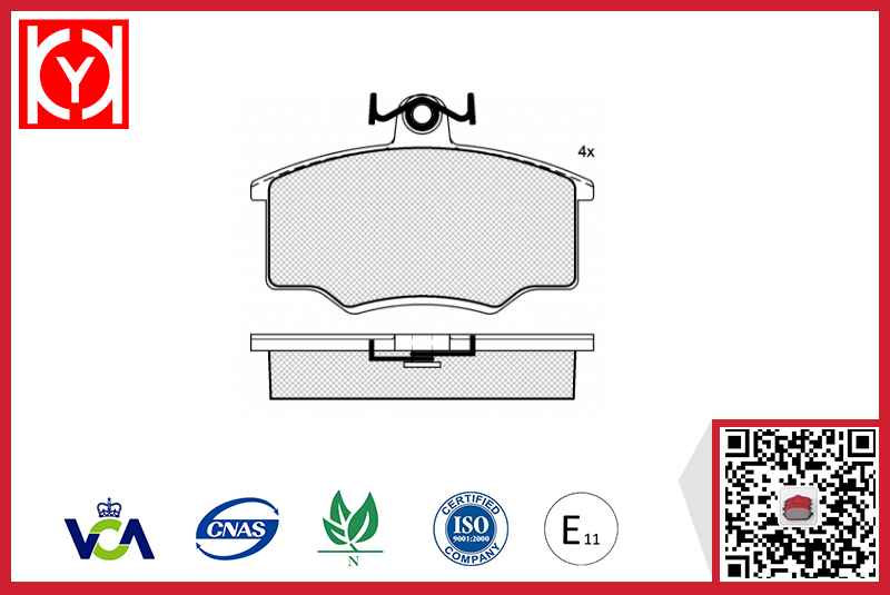 Brake pad set KY80281 AUDI 321698151A