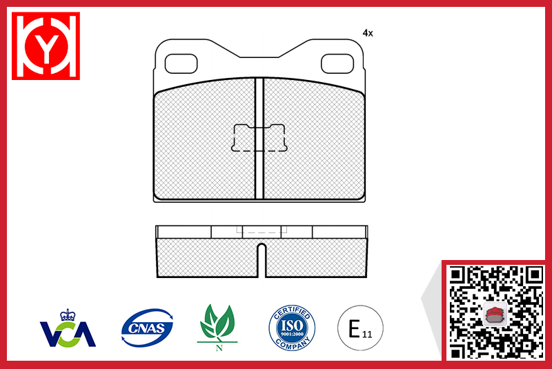 Brake pad set KY80225 AUDI 803698151A