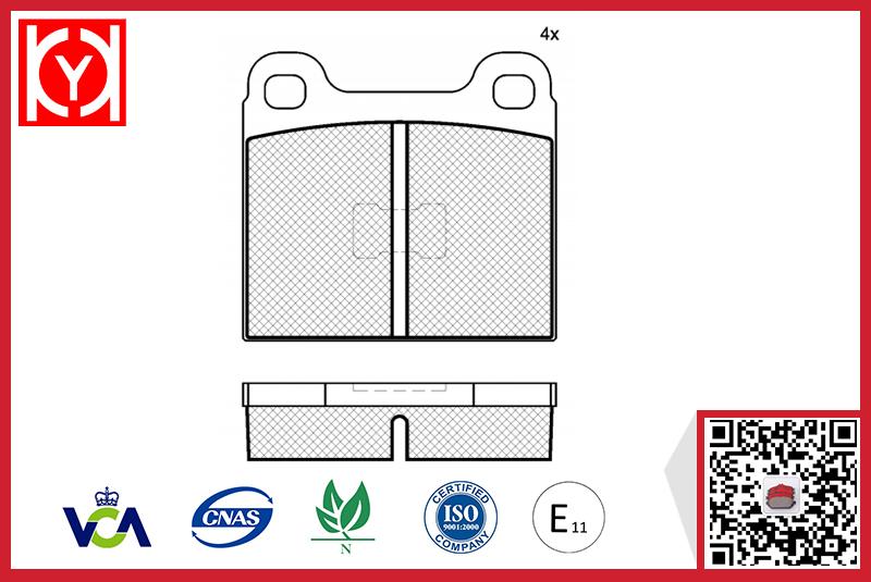 Brake pad set KY80169 VW 811698151