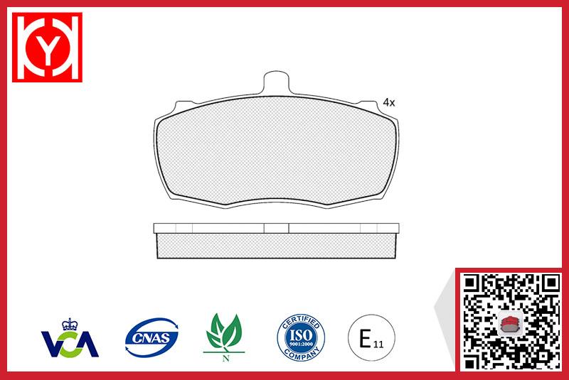 Brake pad set KY40503 LANDROVER GBP90272