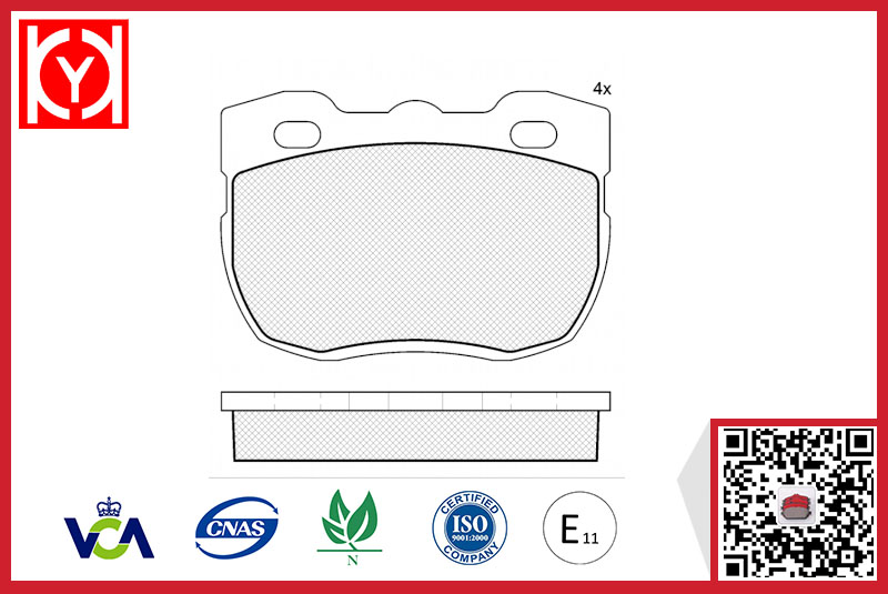 Brake pad set KY40800 LAND ROVER RTC-5756