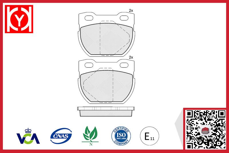 Brake pad set KY41090 LAND ROVER SFP000160