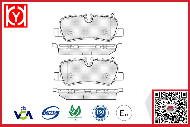 Brake pad set KY81661 LAND ROVER LR-016808