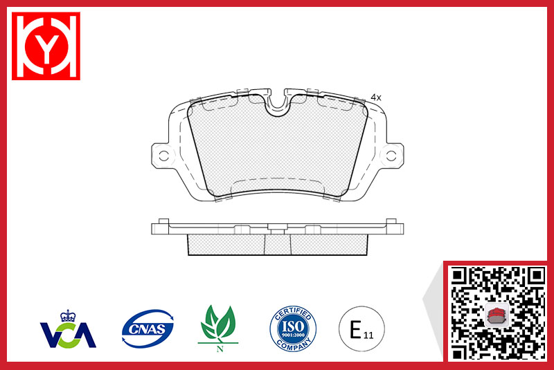 Brake pad set KY82120 LAND ROVER LR-036574