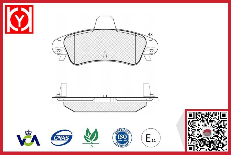 Brake pad set KY81735 FORD 1088934