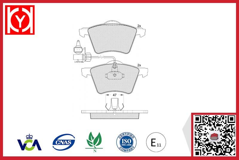 Brake pad set KY41350 VW 7D0698151A