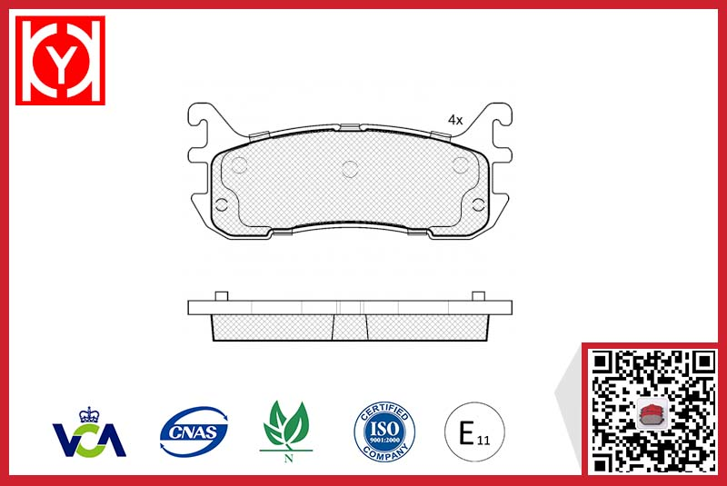 Brake pad set KY81819 FORD USA	F7CZ-2200-AA