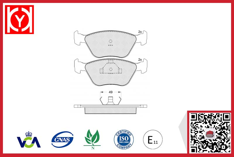 Brake pad set KY80952 FORD V89BB-2K021-AC